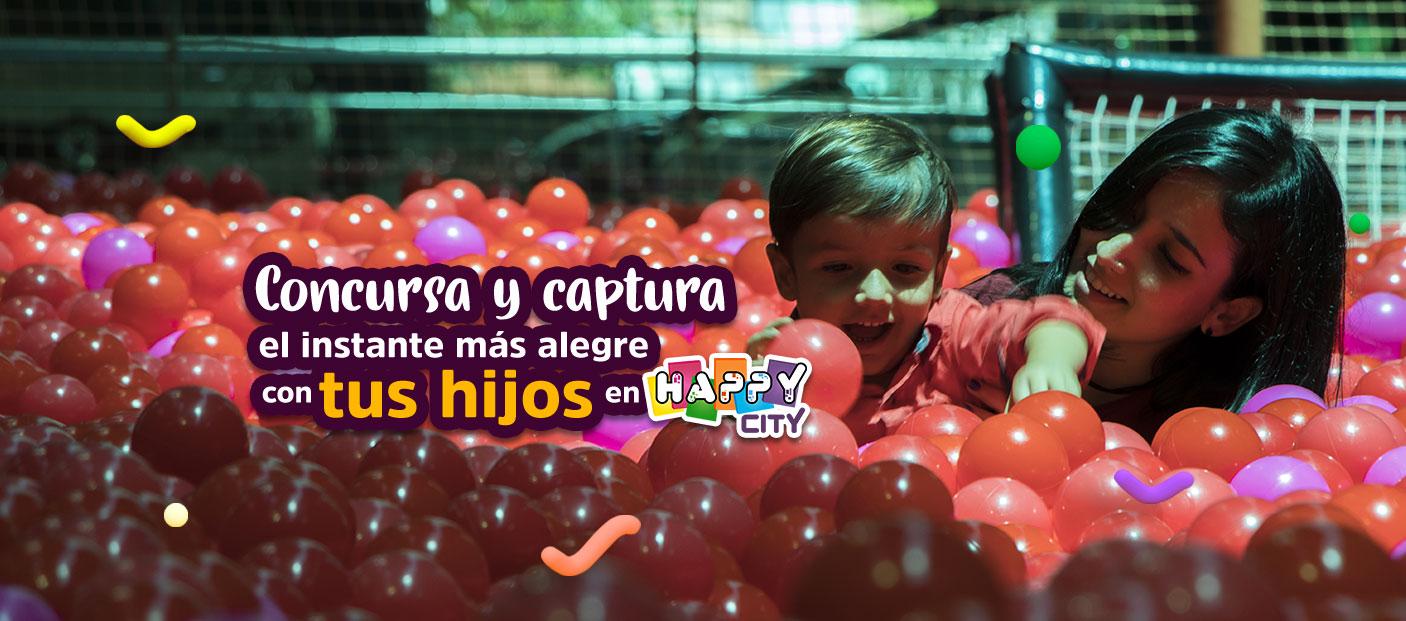 Captura los momentos felices con tus hijos en Happy City